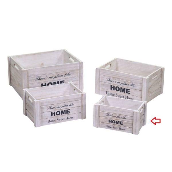 Cassette In Legno Bianco Linea Home