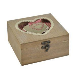 Scatola legno rouge quadra