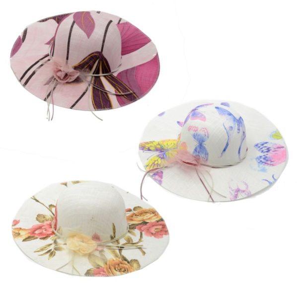 Cappello donna con fiori