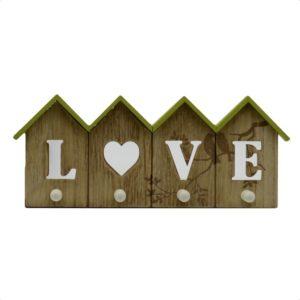 "Appendino in legno ""love"" 4 posti"