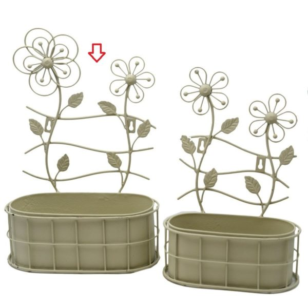 "Portavaso metallo ""Flower"" ovale"