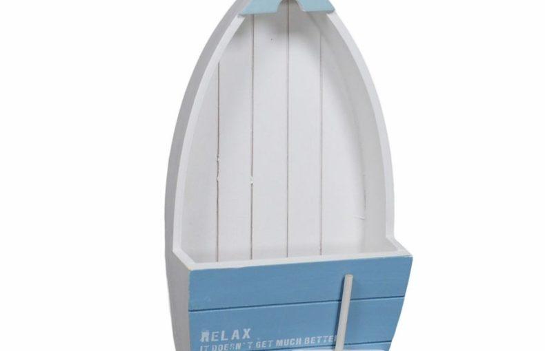 Portalettere in legno barca