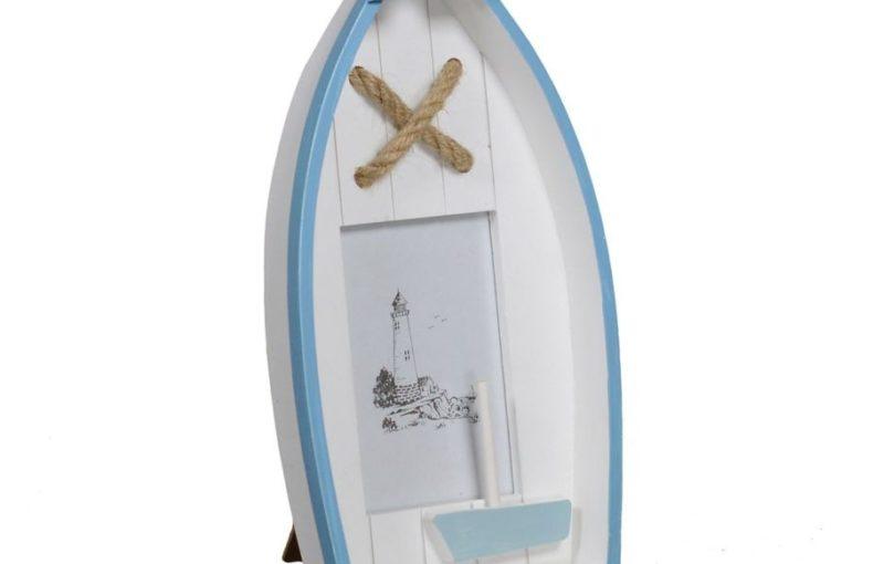 Portafoto da tavolo in legno linea mare legno barca