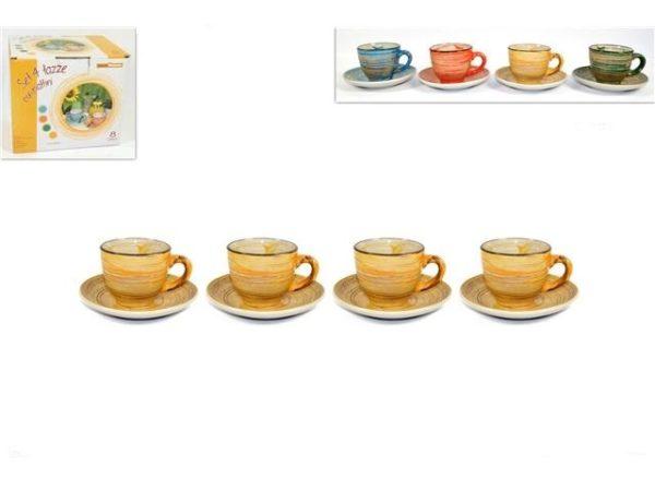 Set 4 tazzine con piattino