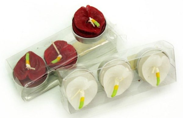 Set 3 candele tealight calle