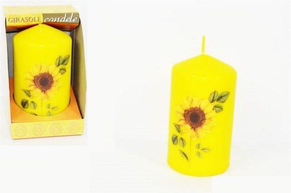 Candela citronella con decorazione girasole