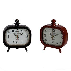 Orologio Ovale In Metallo Da Tavolo 2 Colori