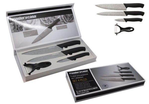 Set 3 coltelli con pelaverdure