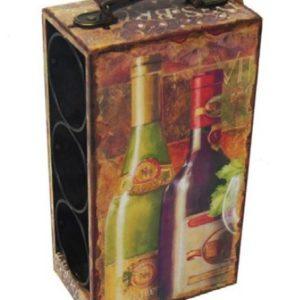 Cantinetta vino baule decoro vino