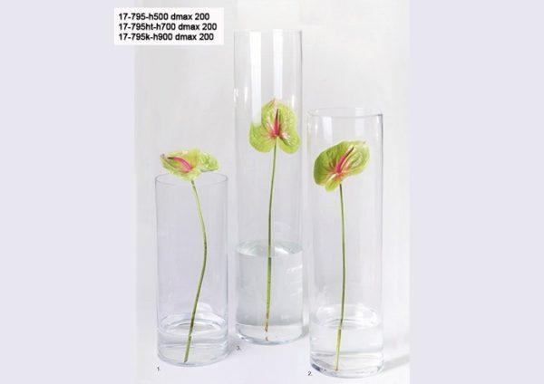 Vaso cilindro vetro diam. cm.10 H 30
