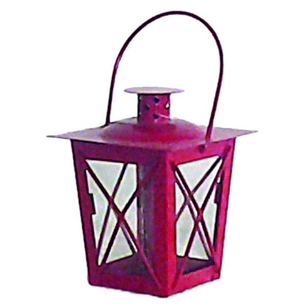 Lanterna Rossa In Metallo Piccola