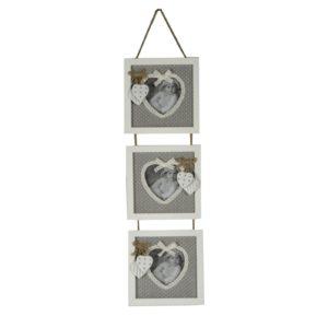 Portafoto a muro tissu grigio 3p