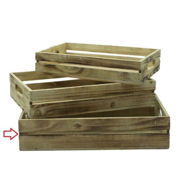 Vassoio in legno naturale rettangolare varie dimensioni