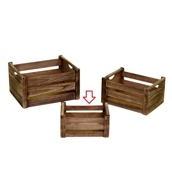 Cassetta in legno naturale storage
