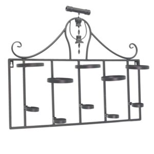 Portabottiglie In Metallo 5 Posti Nero