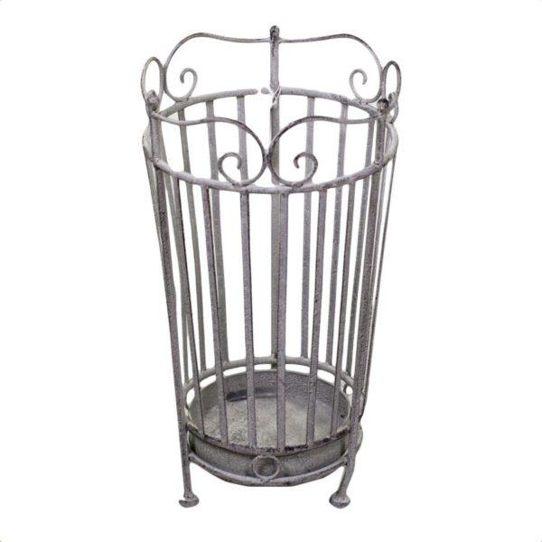 Portaombrelli in metallo grigio