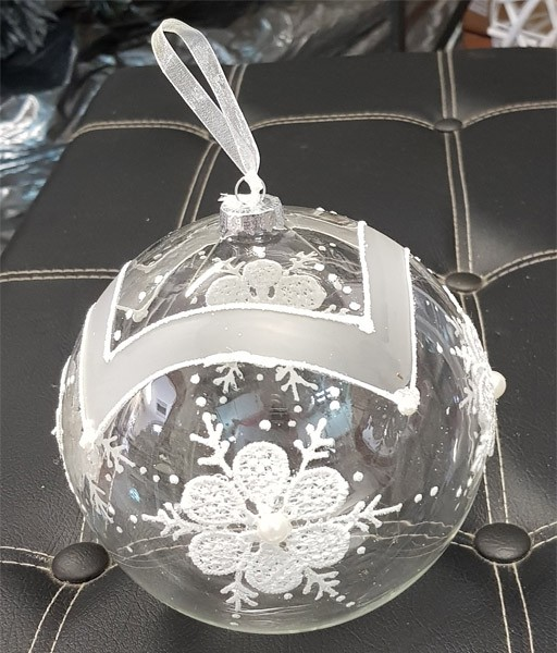 Sfera decorativa singola in vetro Ø15cm