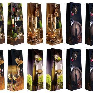 Confezione 6 Buste Porta Bottiglia In Carta