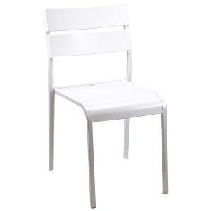 Sedia In Ferro Bianco Modello Perugia