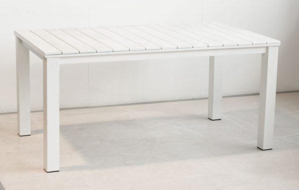 Tavolo In Ferro Rettangolare Bianco Modello Perugia