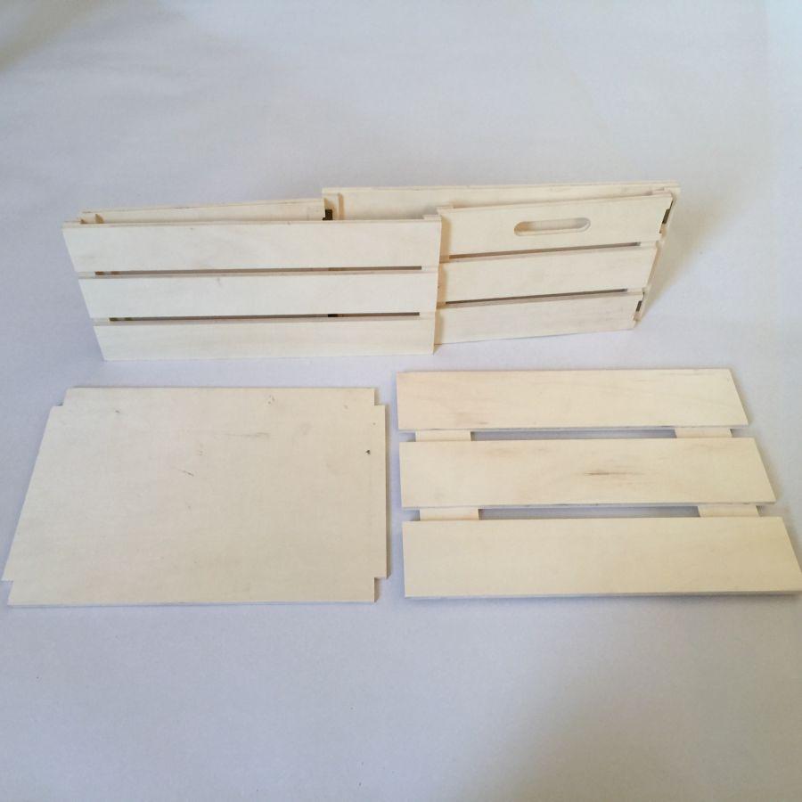 Cassette Della Frutta Legno cassetto in legno rettangolare pieghevole