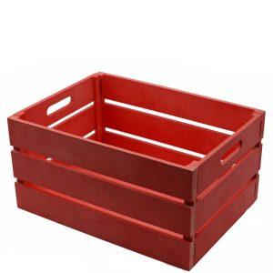 Cassetto In Legno Rosso Rettangolare Pieghevole