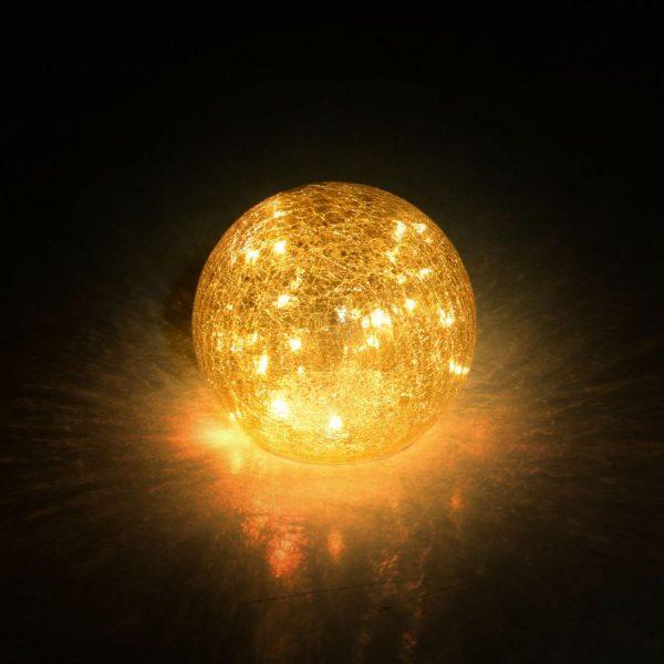 Lampada Led In Vetro Argento Oro Sfera Piccola