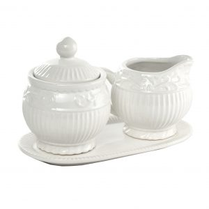 Set In Ceramica Lattiera E Zuccheriera Arabesque