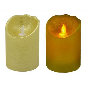 Candela Led A Batteria Color Oro Piccola