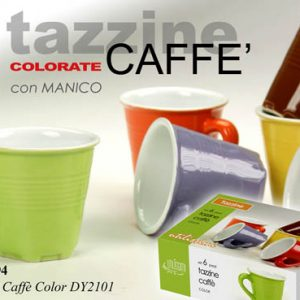 Set 6 Tazzine Con Manico Colorate