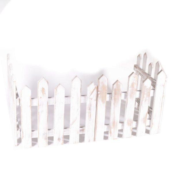 Decorazione Steccato In Legno Sbiancato