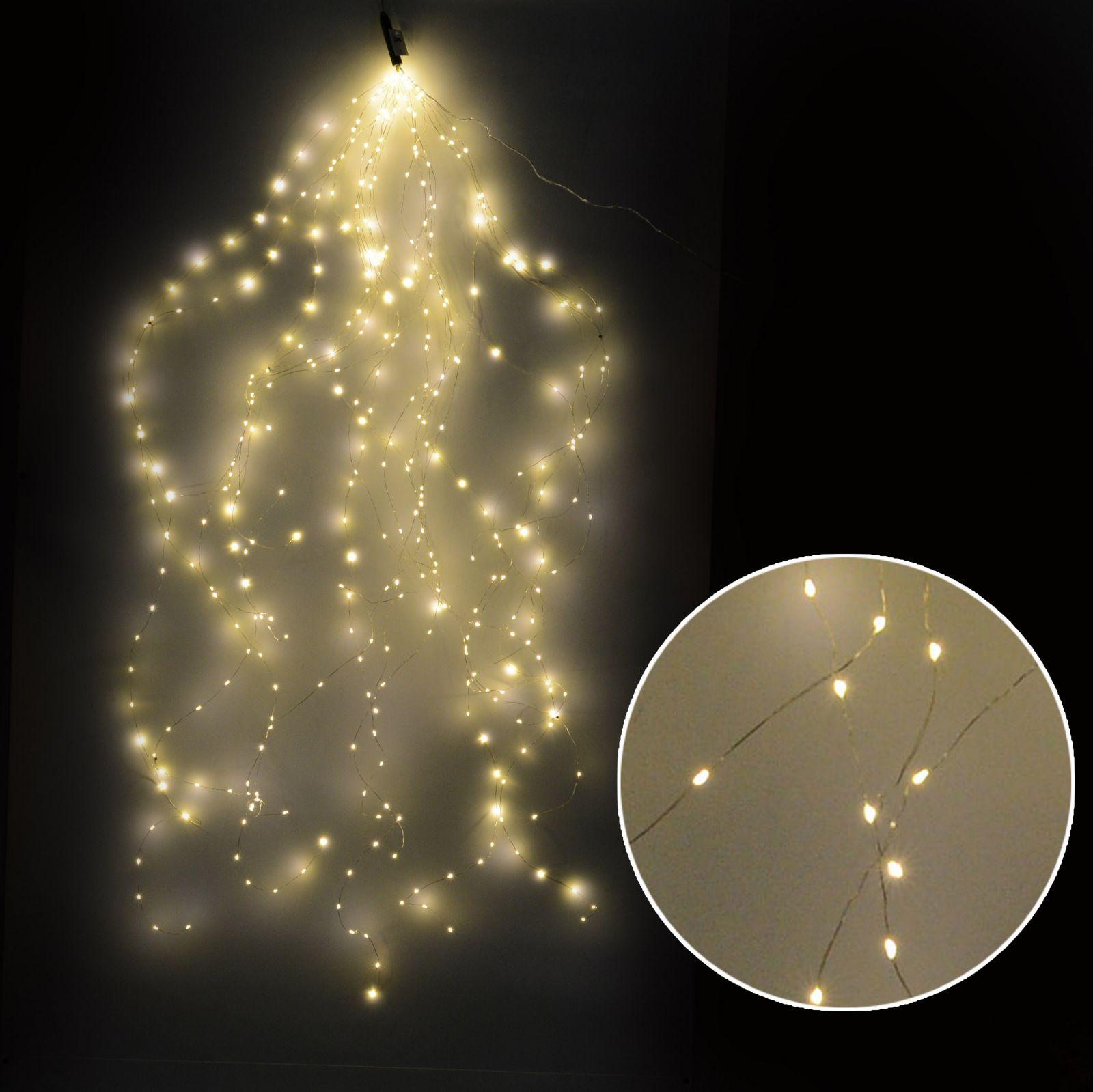 Luce cascata 240 led bianco caldo uso esterno ferrini gift for Esterno frigorifero caldo