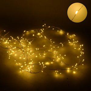 Luce In Filo 280 Micro LED Bianco Caldo Uso Esterno