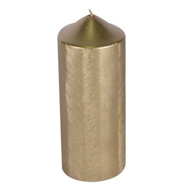 Candela Color Oro Cilindro Grande