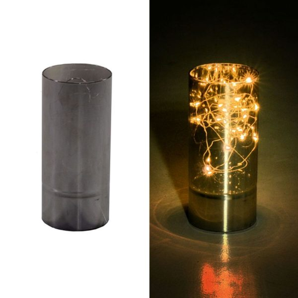 Lampada Cilindrica In Vetro Con LED