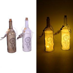Decorazione Bottiglia In Vetro Con LED 2 Colorazioni