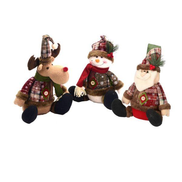Pupazzi A Tema Natalizio Renna, Pupazzo di Neve Babbo Natale