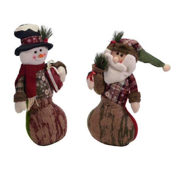 Pupazzi In Tessuto Fantasia Pupazzo Di Neve Babbo Natale