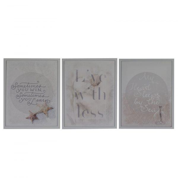 Quadro Con Stampe E Scritte 3 Fantasie