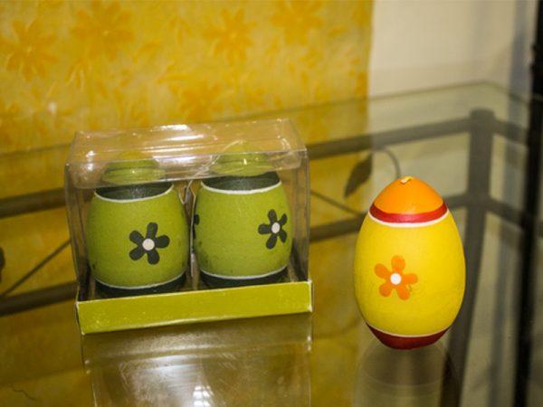 Candela Decorata A Mano Forma Uovo