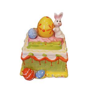 Cofanetto Quadrato Torta Con Coniglio
