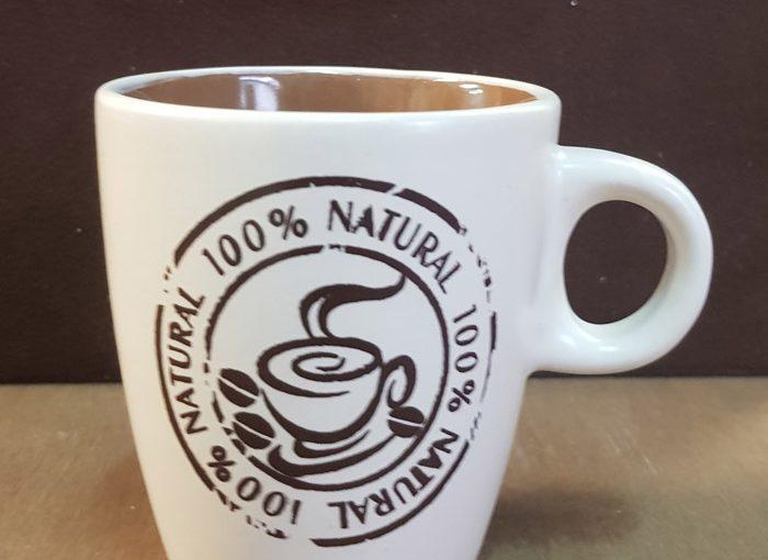 Tazza In Ceramica Natural Coffee Grandi