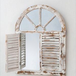Specchio Struttura In Legno Modello Finestra