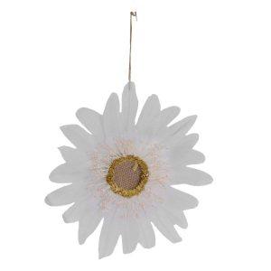 Decorazione Fiore In Tessuto Bianco