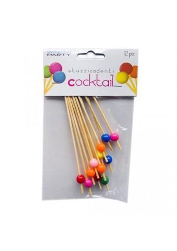Confezione 12 Pezzi Stuzzicadenti Per Cocktail Con Perla