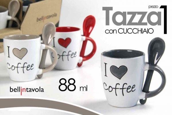 Tazzina I Love Coffee Con Cucchiaino