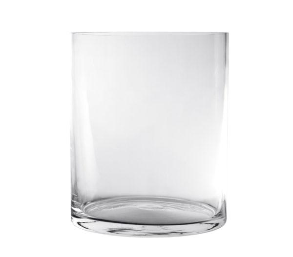 Vaso Cilindrico In Vetro Diametro 15 cm