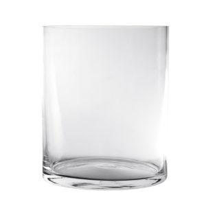 Vaso Cilindrico In Vetro Diametro 12 cm