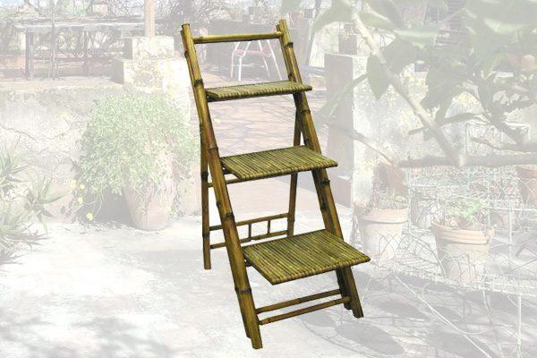 Scaffale In Bambù Con 3 Ripiani