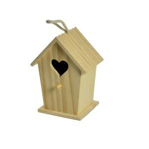 Casetta Per Uccelli In Legno Con Cuore